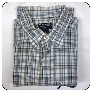 Ralph Lauren Medium Button Up Short Sleeve Plaid